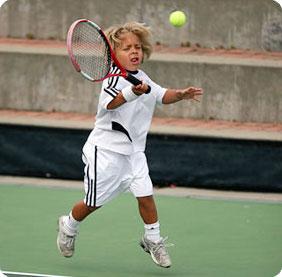 Kids new tennis techniques