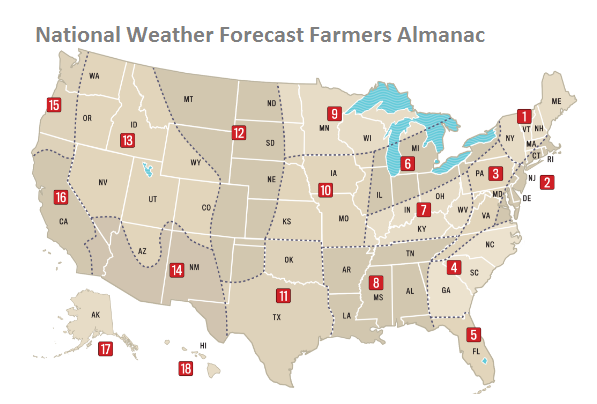 US Weather Forecast – Outlook for US Regions Winter 2016/2017