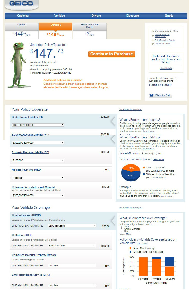 Geico Auto Insurance Quote Form
