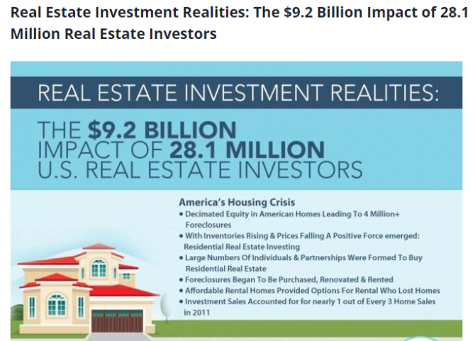 Real Estate Investors Huge Impact on the Economy
