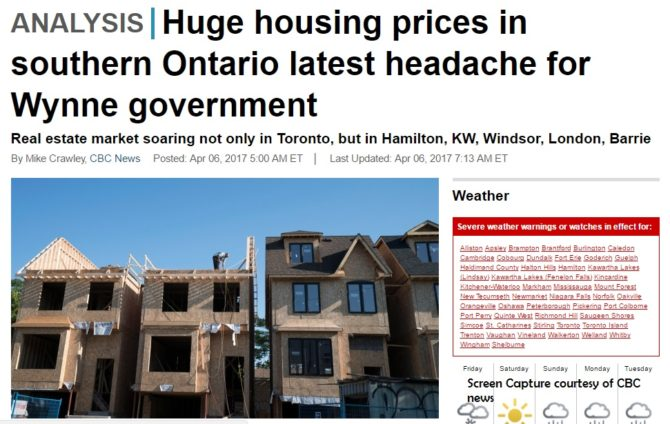 Evil Government Responsible for Toronto Housing Market Mess